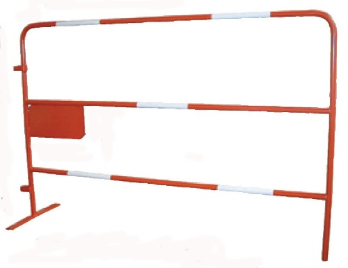 Barriere chantier tp rouge 1,5m d25 - 340122