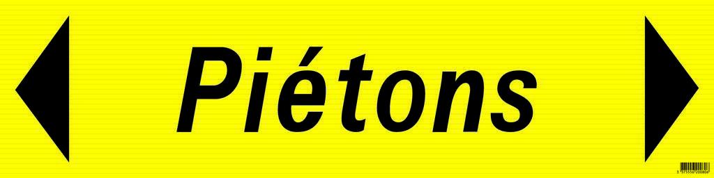 Panneau 'pietons' 800x200mm (pp alveolaire) sofop taliaplast - 620080