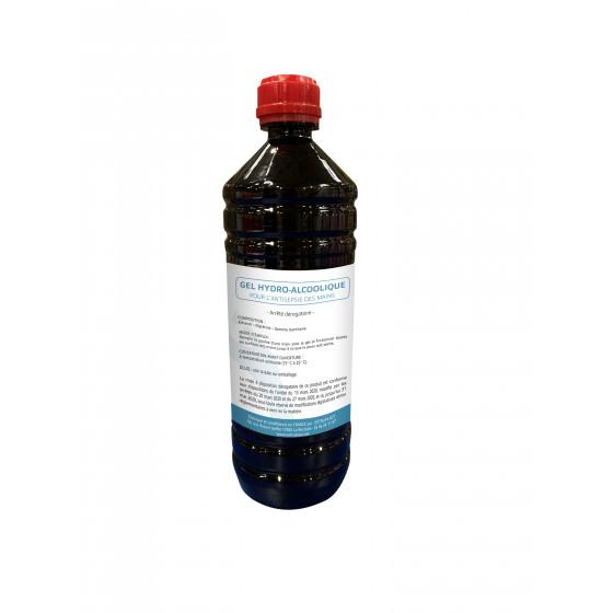 Bouteille de 1 l de gel hydro-alcoolique antiseptique xp-11279