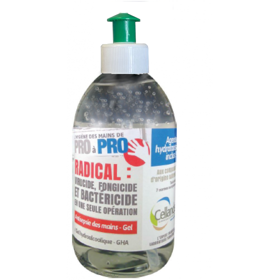 Flacon 500 ml gel hydroalcoolique - 5751012