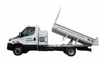 Camion benne et utilitaire